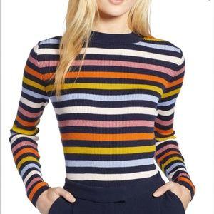 Halogen Shimmer Stripe Sweater
